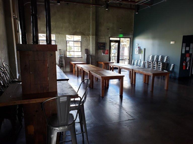 Reclaimed Wood Farm Tables at Back Forty Birmingham, AL