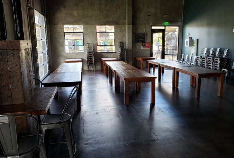 Reclaimed Wood Farm Tables at Back Forty Bham