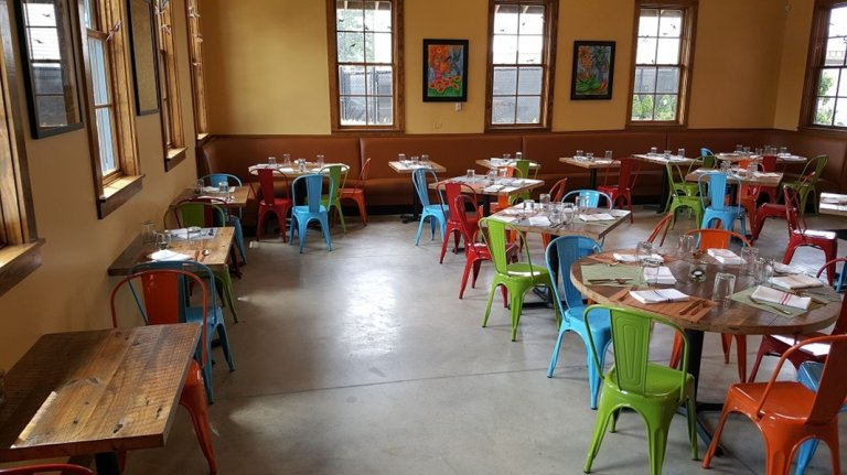 Tables at EL Zun Zun Restaurant Built with Reclaimed Wood
