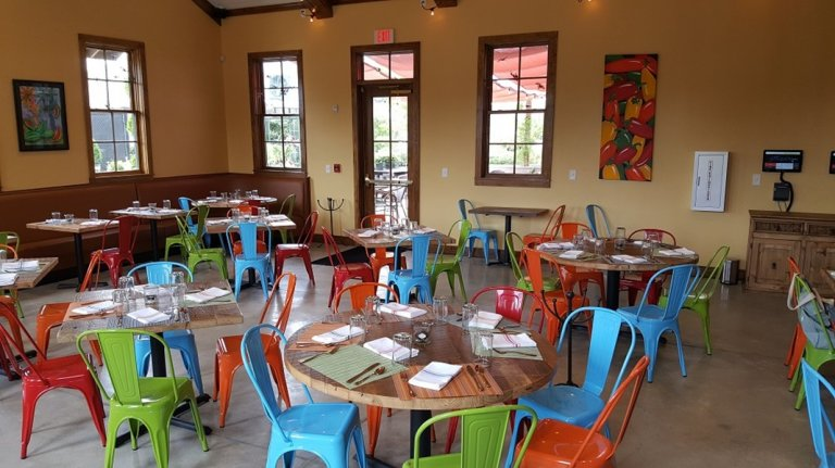 Reclaimed Wood Tables at EL Zun Zun Restaurant