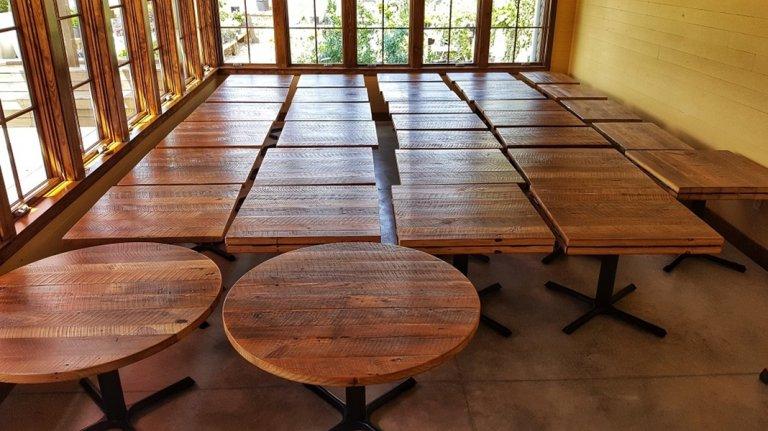 Reclaimed Wood Tables Built for EL ZunZun Restaurant