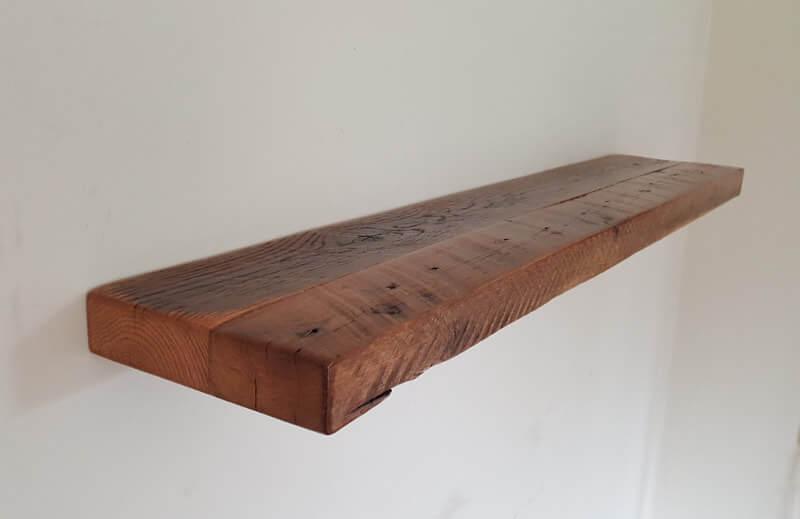 Oak Reclaimed Wood Floating Shelf