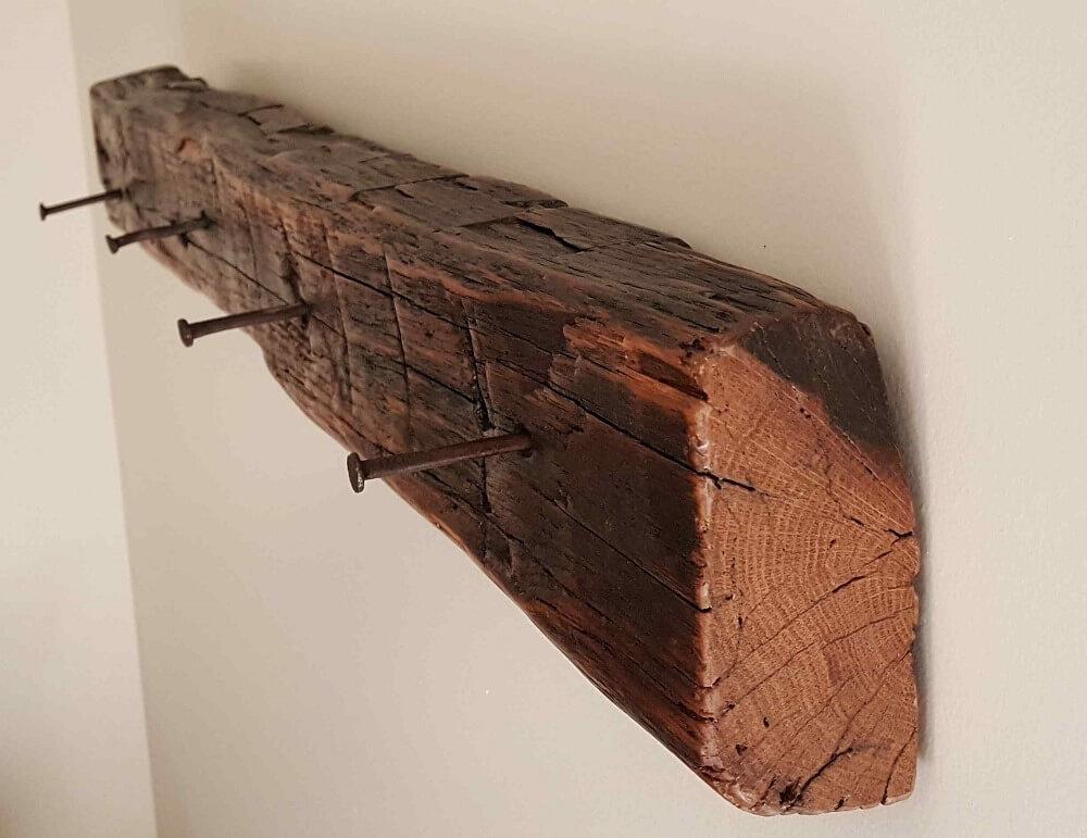 Coat Towel Racks From Reclaimed Barnwood Beams Arcadia Salvage Simple Reclaimed Barn Wood Coat Rack