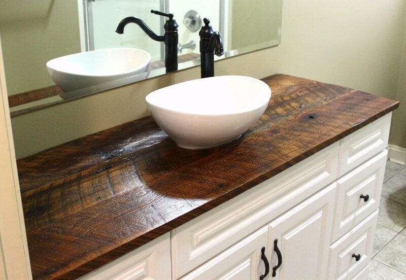 Reclaimed Wood Vanities Solid