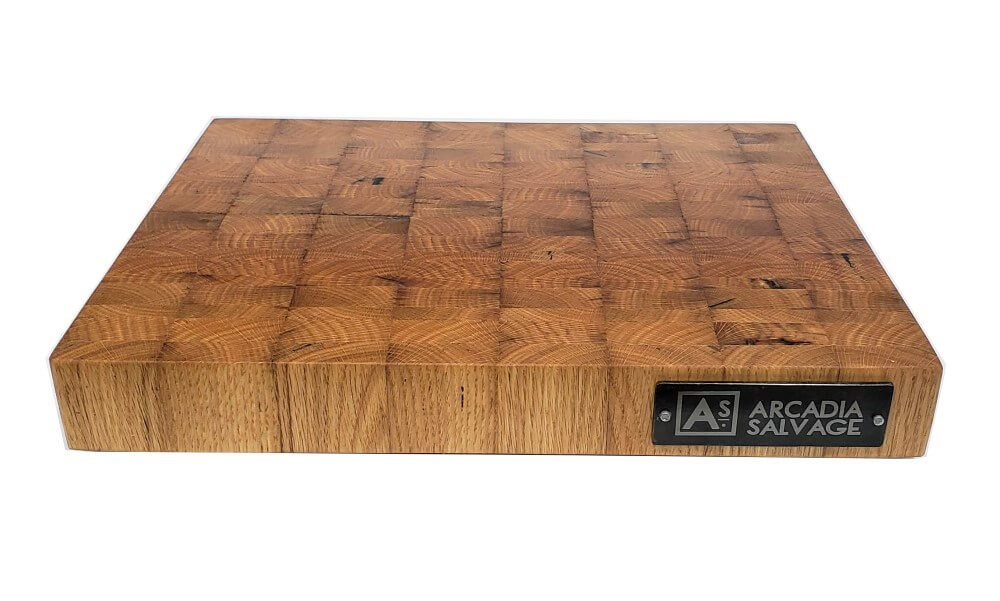 End Grain Reclaimed Oak Cutting Board